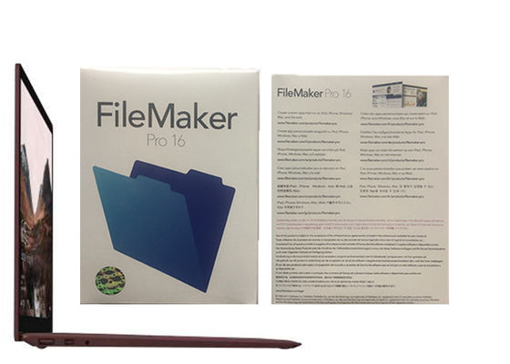China Pro 16 HL2C2ZM/A Filemaker Provensters van Filemaker de Proverhoudingen fabriek